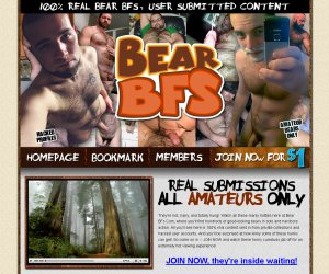 They're hot, hairy, and totally hung! Watch all these manly hotties here at Bear BFs.Com, where you'll find hundreds of good-looking bears in solo and hardcore action. All you'll see here is 100% real content sent in from private collections and hacked user accounts. And you'll be surprised at how kinky some of these hunks can get! So come on in -- JOIN NOW and watch these horny cumstuds jizz off for an extremely hot viewing experience!
