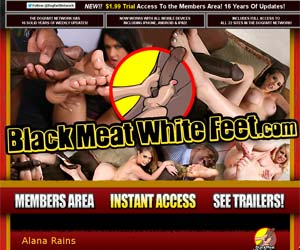 Black Meat White Feet - Interracial Footjobs, Foot Fetish
