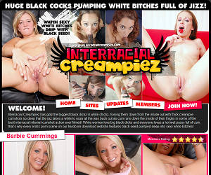 Interracial Creampiez - Huge Black Cocks Pumping White Bitches Full Of Jizz!