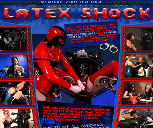 Latex Shock!  You are about to enter dungeons of pain, where boundless imagination of merciless mistresses produces inhuman tortures applied on latex-sealed slaves!