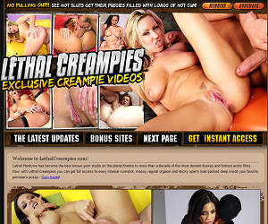 Welcome to Lethal Creampies - exclusive creampie videos!